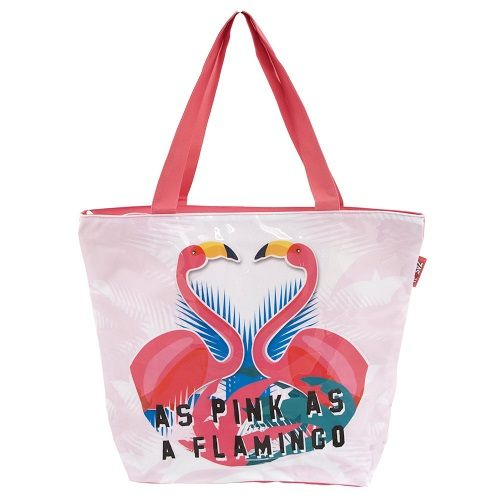 As Pink As A Flamingo Beach Bag