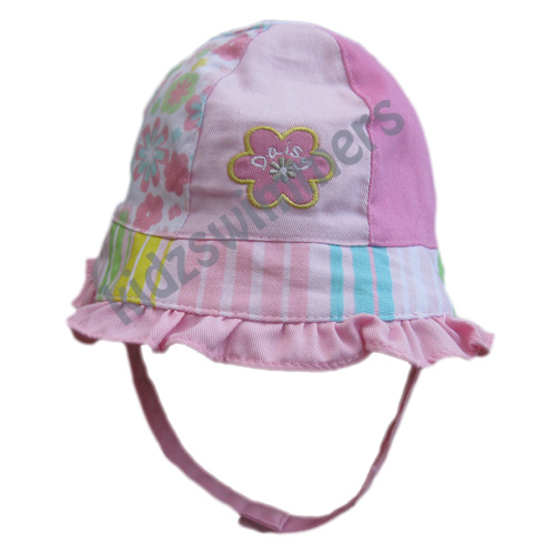 Baby Girls Bucket Hat with Flowers