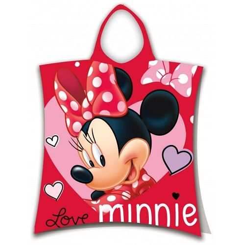 Disney Minnie Mouse Love Hooded Poncho Towel