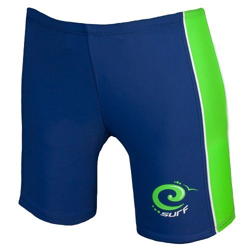 Estate Blue & Jasmine Green Surf Swimming Trunks UPF 50+