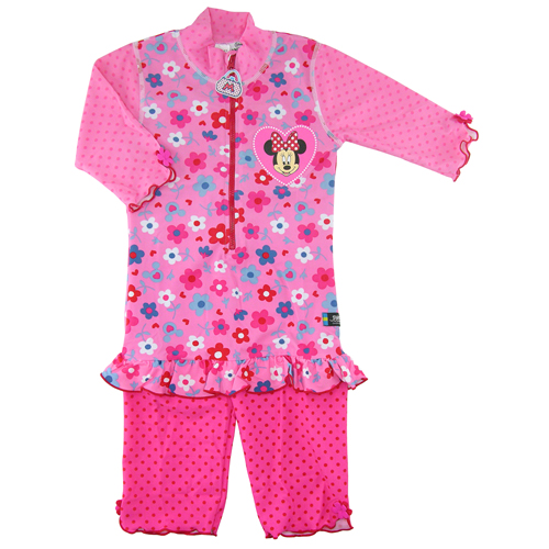 Disney Minnie Mouse Pink UV Sunsuit UPF 50+