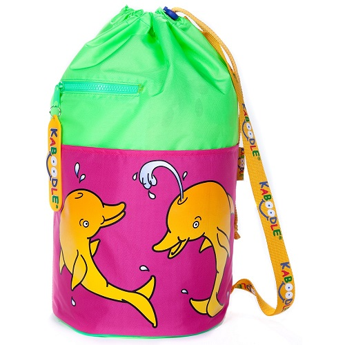 Kaboodle Dolphin Swim and Sports Bag - Lime and Pink