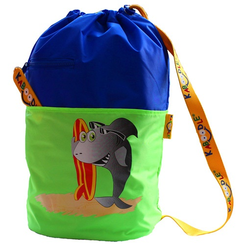 Kaboodle Shark Swim and Sports Bag - Royal Blue and Lime