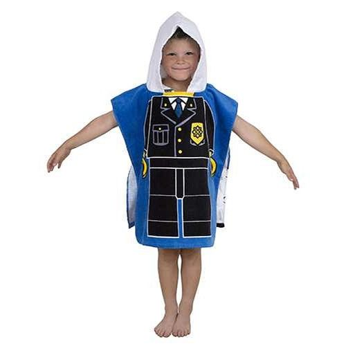 Lego City Police Hooded Poncho Towel