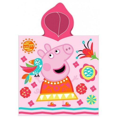 Peppa Pig Vacay All Day Hooded Poncho Towel