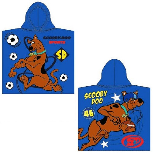 Scooby Doo Sports Dark Blue Hooded Poncho Towel