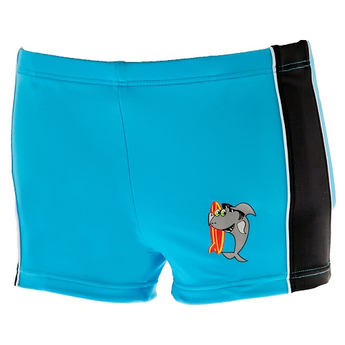 Shark Swimming Trunks - Blue & Black
