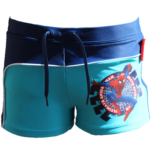 Spiderman Swimming Trunks Blue