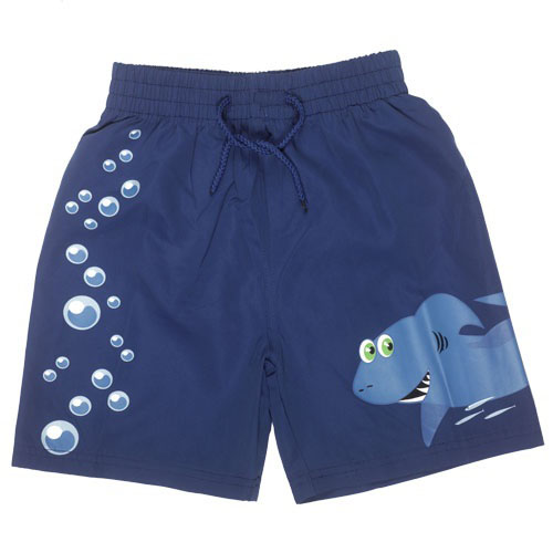 Swim Shorts - Shark and Bubbles